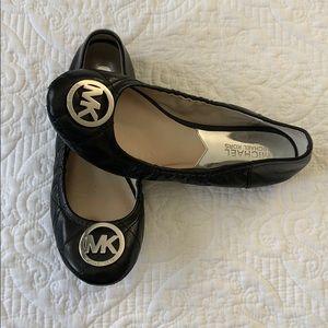 Michael Kors black ballet flats